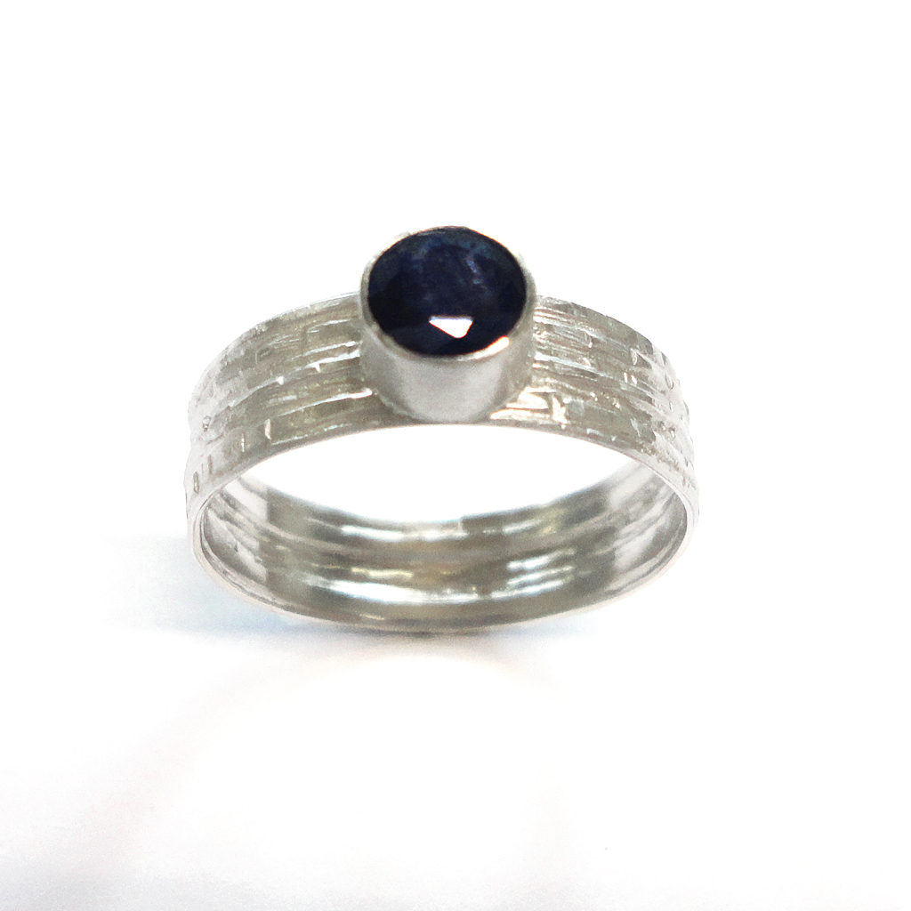 sapphire silver ring contemporary rings by