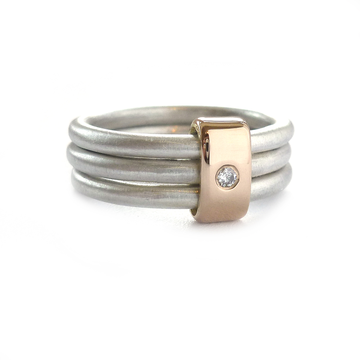 silver gold and ring contemporary rings by