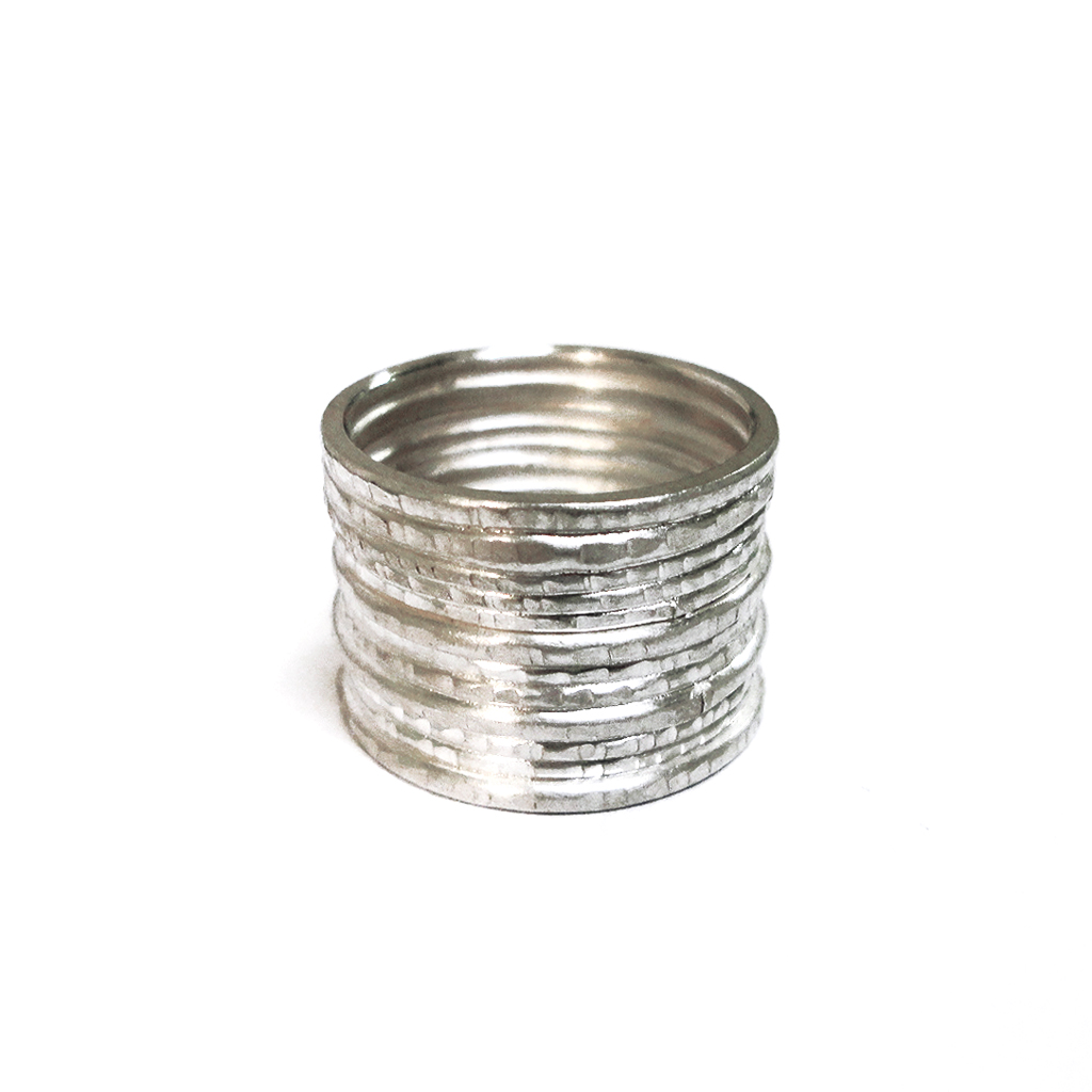 Silver Stripe Wide Ring Contemporary Rings By Contemporary Jewellery Designer Stacey Bentley