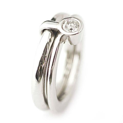 1a9599e22 Platinum and Diamond Ring   Contemporary Rings by contemporary ...