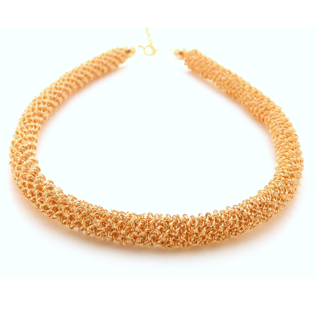 Gold tube necklace | Contemporary Necklaces / Pendants by ...
