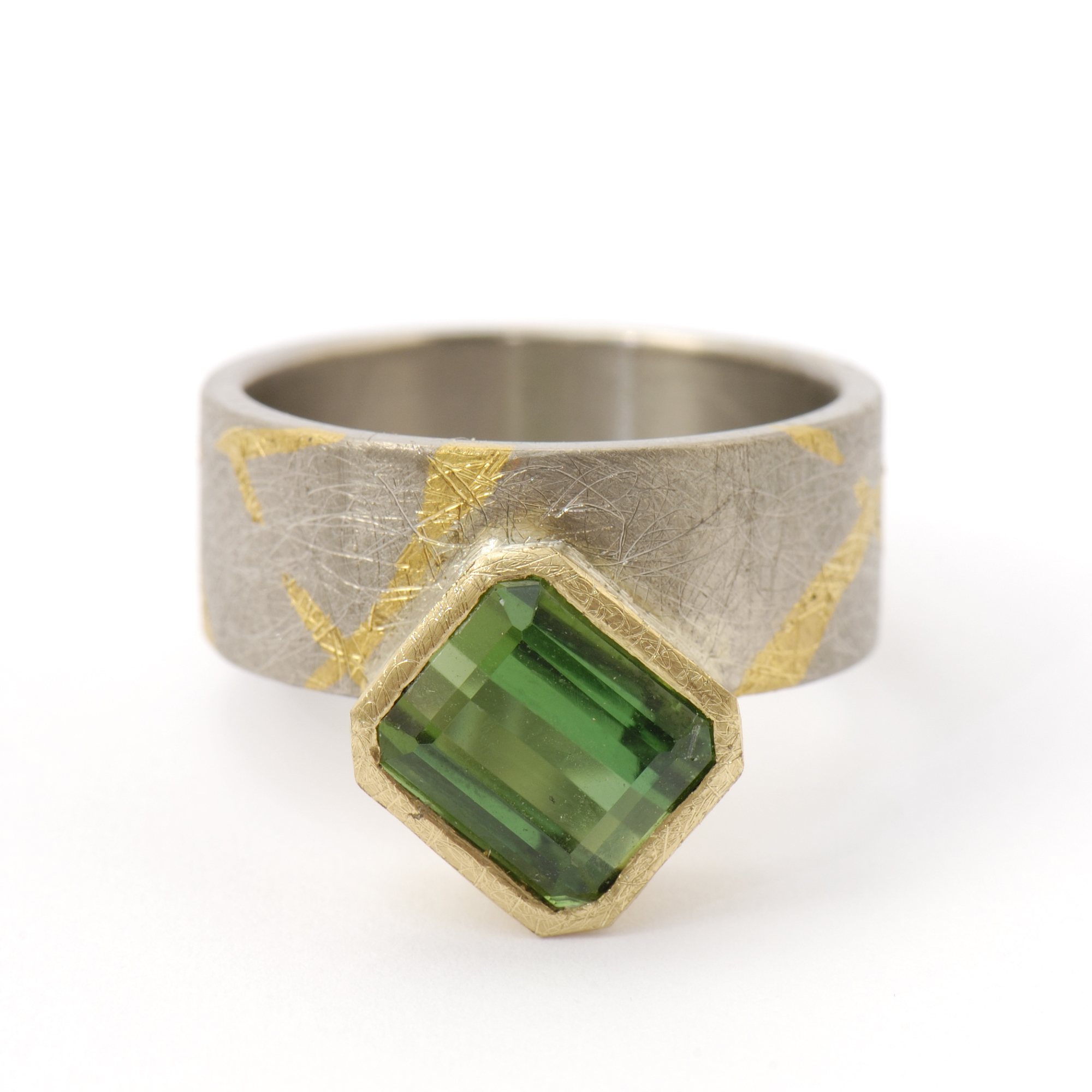 green tourmaline logan diamond ring jan white bespoke gold rings