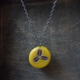 little round mustard necklace