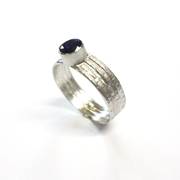 Sapphire & Silver Ring