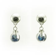 Small Bubble Earrings - Dark Blue