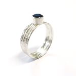 Sapphire & Silver Ring by Stacey Bentley