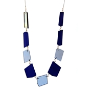 Shard necklace blue/grey 01