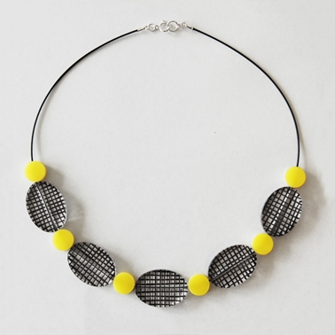 yellow spot colour necklace