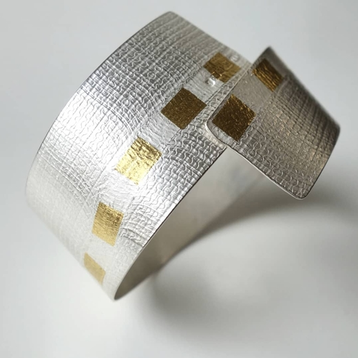 Gold Threading Cuff side view