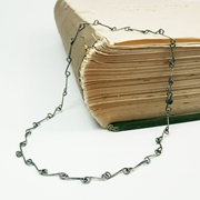 Scroll Link Necklace Oxidised