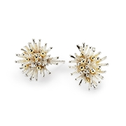 Sea Urchin Earrings  silver with 18ct gold granulation - by Hannah Bedford