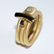 18ct yellow gold ring set with diamond