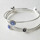 Stacking Bangles Blue