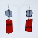 shard earrings red/grey 01