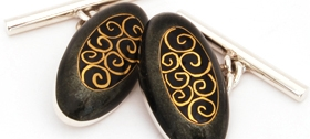 Sheila McDonald Oval Cufflinks