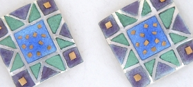 Square star earrings by Sheila McDonald