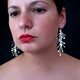 Chaos long dangling wire earrings, satin by Fiona DeMarco