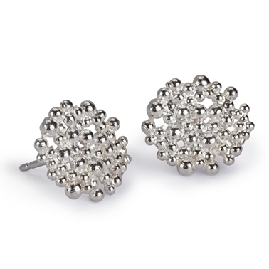 Silver Berry Earrings - Medium - by Hannah Bedford