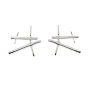 Simply Silver Chunky Rutile Studs - front