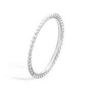Single Skinny Stacking Ring in Silver