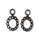 Single Stretched Circle Drop Earrings
