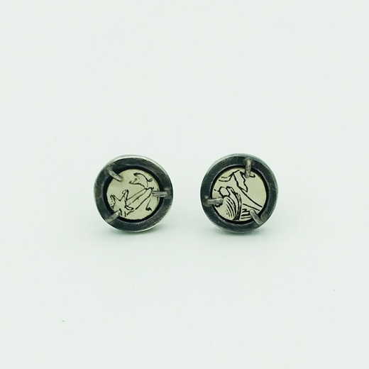 Sketch Round Earrings Front Close