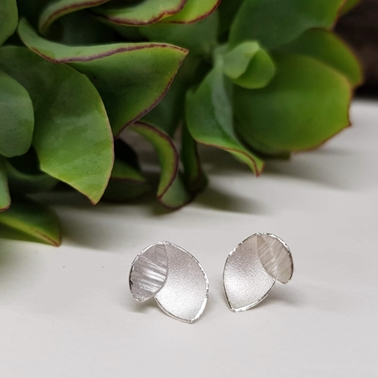 Small Orchid leaf earrings