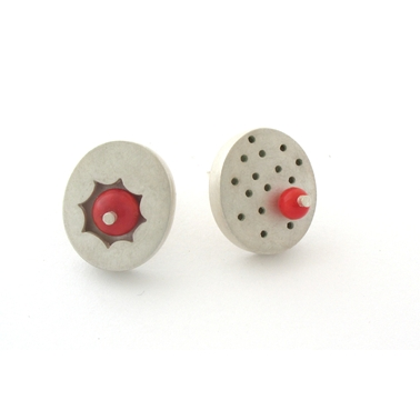 small container studs - coral
