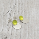 Lime Enamel Stud with Drop