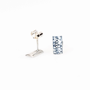 Blue Mini Rectangle Studs