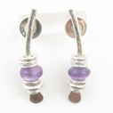 Small amethyst arc earrings