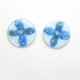 Small round earrings / blue