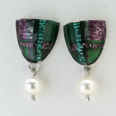 Tartan Inspired Drop Earring