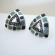 Triangular etched earrings
