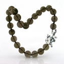Lamella T-bar Pendant Smokey Quartz Necklace