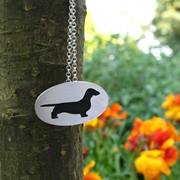 Smooth Haired Dachshund pendant