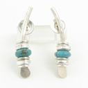 Small turquoise arc earrings