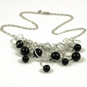 Solid Black 9 Bubble Necklace
