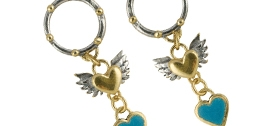 Sophie Harley - Frida Porthole Heart earrings
