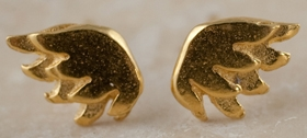 Sophie Harley - Tiny wing studs - gold plated silver
