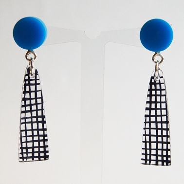 blue Spot Colour earrings