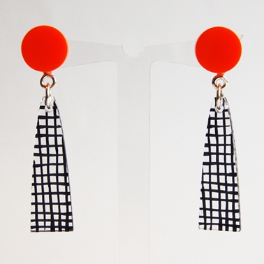 orange Spot Colour earrings