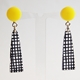 yellow Spot Colour earrings