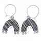 spotty arch earrings