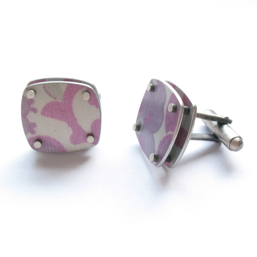 Square layer cufflinks - detail