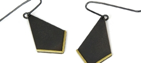 Stacey Bentley - Black & Gold earrings
