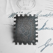 Postage Stamp Brooch