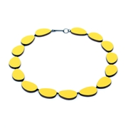 Yellow curve necklace