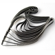 Statement Strata Brooch - Oxidised Silver