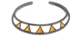 Stephanie Ray - Pyramid Deco Bangle